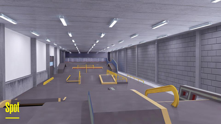 spot indoor streetcourse rendering